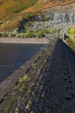 Top of Dam, Caban Coch reservoir Royalty Free Stock Images