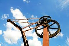 Top de la grúa de la yarda de mercancías Fotos de archivo