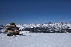 Top de la montaña Imagenes de archivo