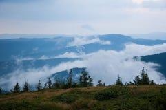 Top de la montaña imágenes de archivo libres de regalías