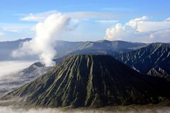 Top de la montaña Bromo imagenes de archivo