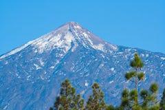 Top de la montaña de Pico del Teide, Tenerife, España imagenes de archivo