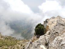 Top de la montaña en Marbella España Imagenes de archivo
