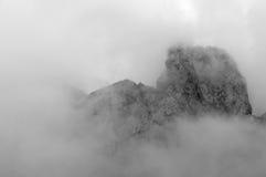 Top de la montaña en Marmolada Foto de archivo libre de regalías