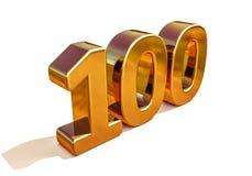 Top 100 de la muestra del aniversario del oro 3d 100o Fotografía de archivo