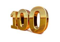 Top 100 de la muestra del aniversario del oro 3d 100o Fotos de archivo
