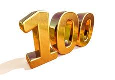 Top 100 de la muestra del aniversario del oro 3d 100o Fotos de archivo libres de regalías