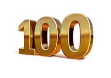 Top 100 de la muestra del aniversario del oro 3d 100o Foto de archivo