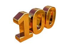 Top 100 de la muestra del aniversario del oro 3d 100o Foto de archivo libre de regalías