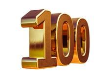 Top 100 de la muestra del aniversario del oro 3d 100o Imagenes de archivo