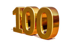 Top 100 de la muestra del aniversario del oro 3d 100o Fotografía de archivo libre de regalías