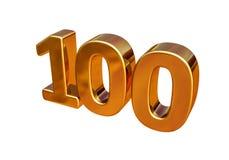 Top 100 de la muestra del aniversario del oro 3d 100o Imagen de archivo libre de regalías
