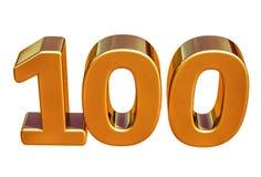 Top 100 de la muestra del aniversario del oro 3d 100o Imagen de archivo