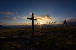 Top de la puesta del sol de Priedröf del soporte Foto de archivo libre de regalías