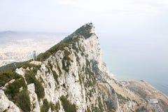 Top de la roca de Gibraltar, Reino Unido foto de archivo libre de regalías