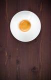 Top de la vista de una taza de café italiano del café express imagen de archivo