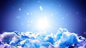 Top de las nubes stock de ilustración
