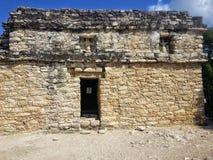 Top de las ruinas de Nohoch Mul Coba fotografía de archivo libre de regalías