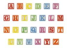 Top de los bloques del alfabeto Foto de archivo