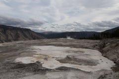 Top de Mammoth Hot Springs Foto de archivo libre de regalías