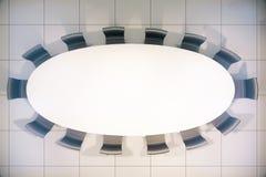 Top de mesa de reuniones en blanco Imagenes de archivo