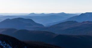 Top de Richardson Mountain en el parque nacional de Gaspe en Quebec, Foto de archivo