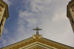 Top de una iglesia Foto de archivo libre de regalías