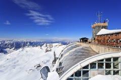 Top de Zugspitze de Alemania fotos de archivo libres de regalías