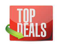 Top deals sticker illustration design Royalty Free Stock Images