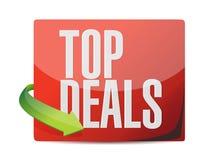 Top deals sticker illustration design Royalty Free Stock Images