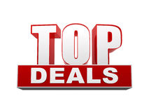 Top deals in 3d letters and block Royalty Free Stock Images