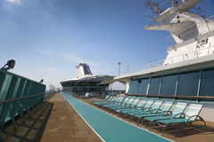 Top deck of cruise ship Royalty Free Stock Photos