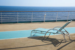 Top deck of cruise ship. / travel and rest Royalty Free Stock Photography