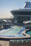 Top deck of cruise ship Stock Images