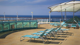 Top deck of cruise ship Stock Image