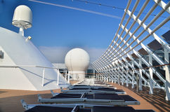 Top deck on a cruise ship Stock Image
