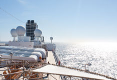 Top Deck Cruise Ship and Ocean View Royalty Free Stock Images