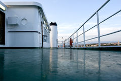 Top deck of ferry. On a ferry to preko from zadar in croatia Royalty Free Stock Photo