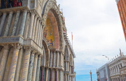 Top decoration details of St. Mark church in Venice. Royalty Free Stock Images