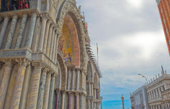 Top decoration details of St. Mark church in Venice. Royalty Free Stock Photos