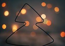 Top del árbol de navidad hecho del alambre Imagen de archivo libre de regalías