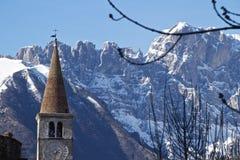 Iglesia en Belluno Fotos de archivo libres de regalías