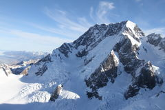 Top del cocinero Peak, Nueva Zelanda del sur del soporte Imagen de archivo libre de regalías