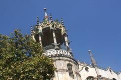 Top del hospital de Rotonda del La, Barcelona, España Fotografía de archivo