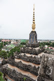 Top del monumento de Patuxai Imagenes de archivo