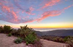 Top del mundo, cielo de la puesta del sol de Laguna Imagen de archivo