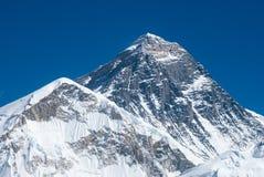 Top del mundo, el monte Everest Imagenes de archivo
