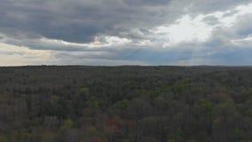 Top del paisaje rural de las montañas de Pocono de Pennsylvania almacen de video