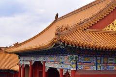 Top del tejado con las tejas en el templo de la literatura fotos de archivo libres de regalías