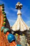 Top del tejado de Battlo de la casa en Barcelona Fotos de archivo libres de regalías